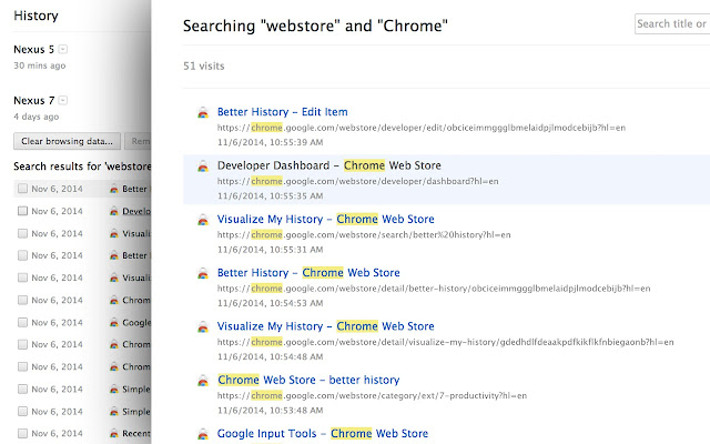 Better history chrome web store runs offline ccuart Choice Image