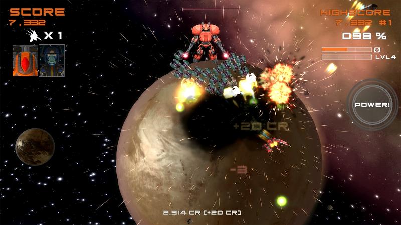 Quantum Revenge - Mecha Robot Space Shooter Screenshot 1