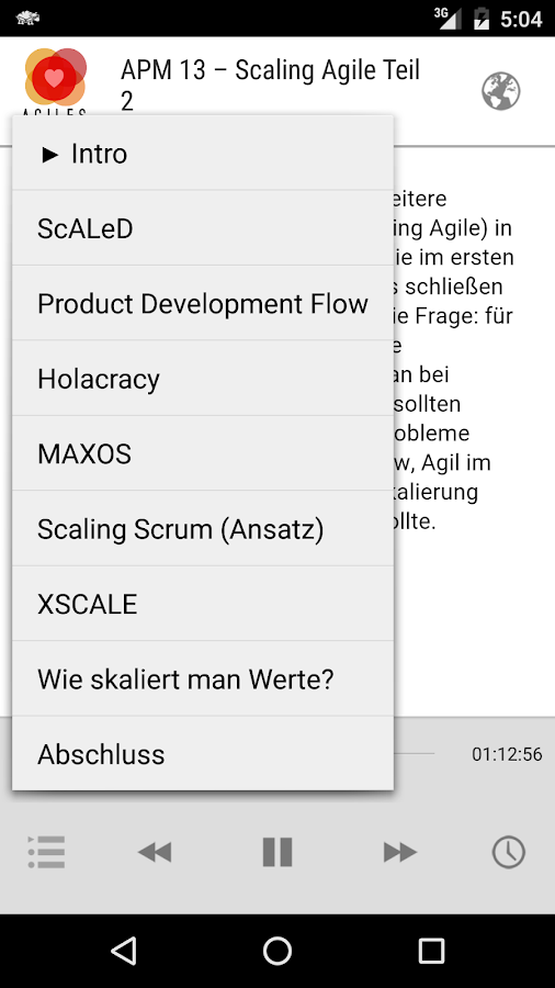 Agiles Produktmanagement- screenshot