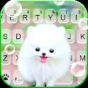 Fluffy Cute Dog Keyboard Background icon