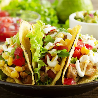 Chicken Tacos With Corn And Black Beans