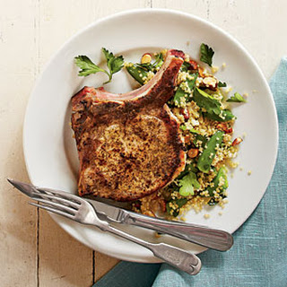 Lemon Pork Chops with Quinoa Salad