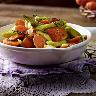 Caramelized Leeks and Carrots.