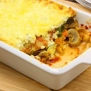 Cottage Cheese Vegetable Lasagne.
