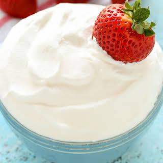 Homemade Whipped Cream.