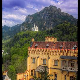 In the Shadows of Neuschwanstein by Elk Baiter - Buildings & Architecture Public & Historical ( castle, bavaria, hohenschwangau, germany, neuschwanstein, king ludwig,  )