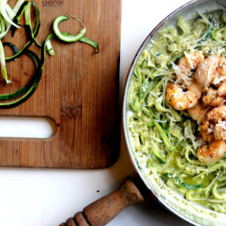 Low Carb Creamy Pesto Zoodles