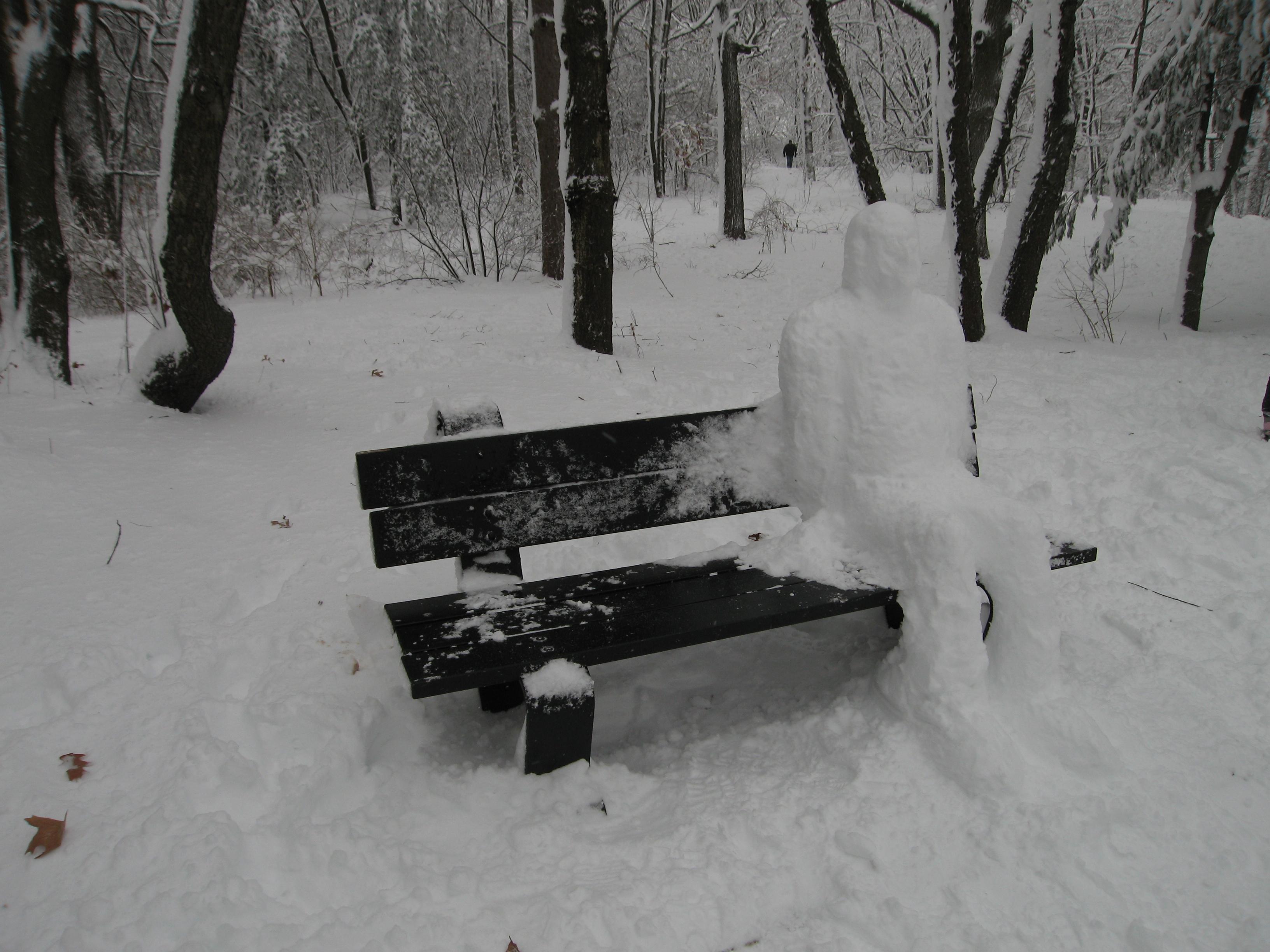 Photo: A snow person