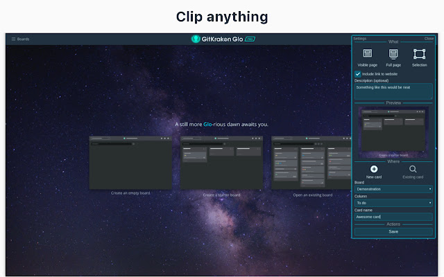Glo Web Clipper