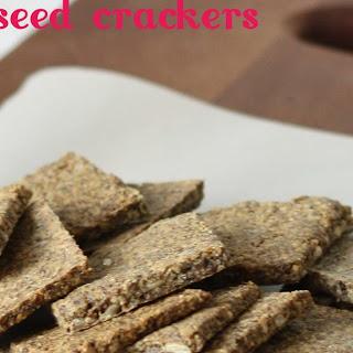 Flax Seed Crackers.