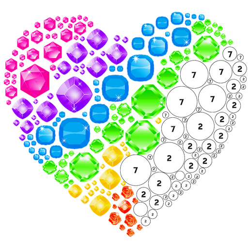 Jewel Art - Color by Number, Adult Coloring Book Icon