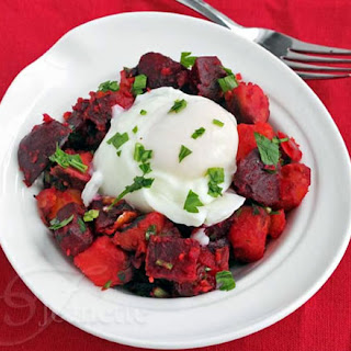 Roasted Beet and Sweet Potato Hash