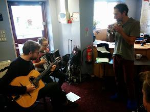 Photo: Gypsy jazz in the hallway!