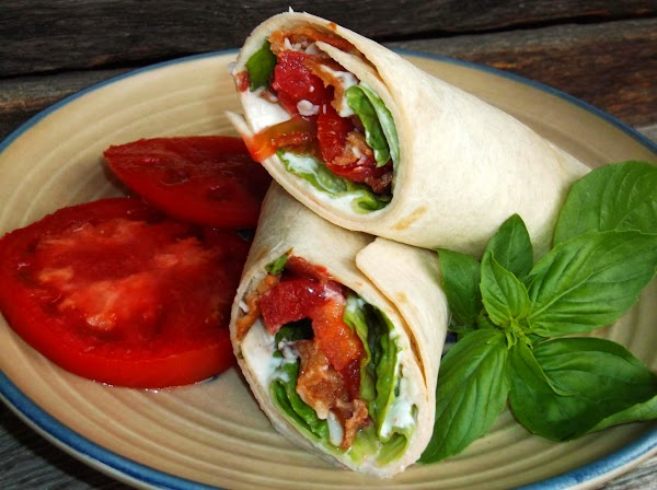Blt Wrap With Asiago & Basil Recipe