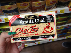Photo: I've never had chai tea before... not sure why since I've tried just about every other kind, so we decided to pick this up to give it a try.