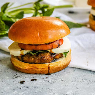 Caprese Turkey Burger with Balsamic Basil Mayo Recipe