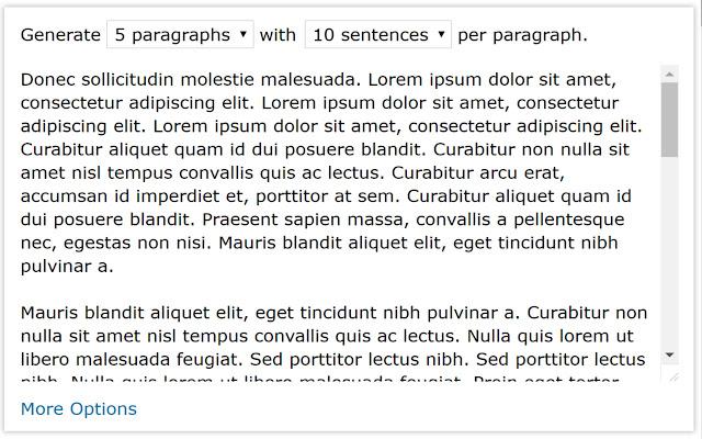 Lorem Ipsum Generator (Default Text)