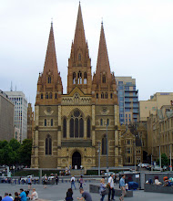 Photo: I took this last Sunday whilst visiting Melbourne - unfortunately I didn't have the opportunity to go inside. For #SacredSunday curated by +Charles Lupica and +Sumit Sen . If you'd like more information on this marvelous Cathedral, Wikipedia has a pretty good account of its history.