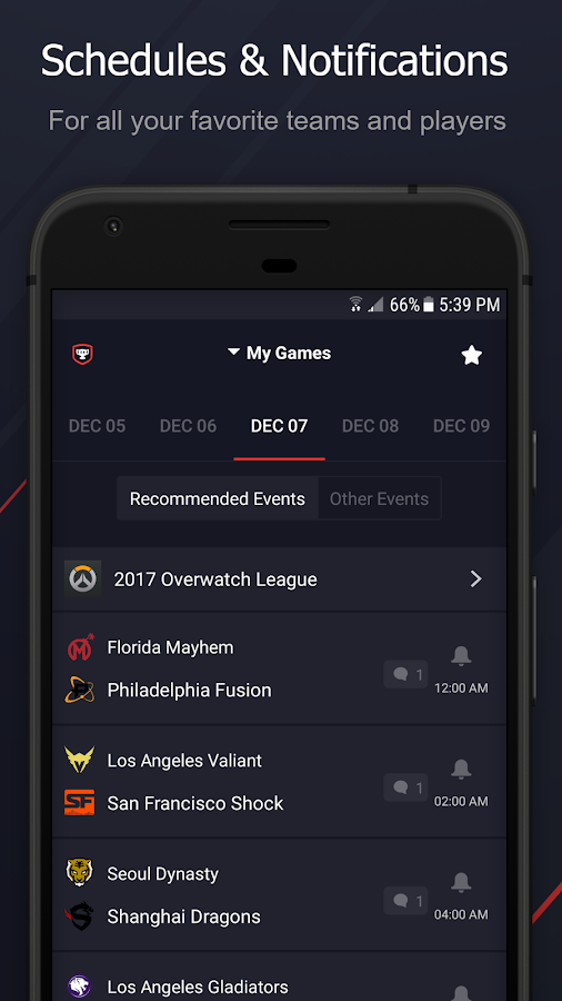 Upcomer eSports- screenshot