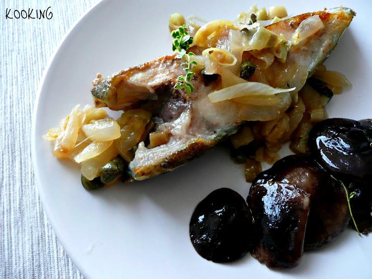 Turbot with Onion Vinaigrette Recipe