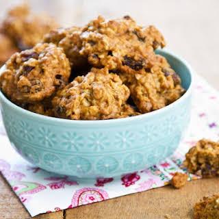 Eggless Chewy Oatmeal Raisin Cookies.
