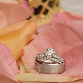 Rings and petals by Kimberly Arend Porter - Wedding Details ( wedding ring, wedding photography, oklahoma, wedding photographer, arabicwedding )