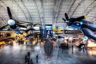 Photo: Inside the Udvar-Hazy National Air & Space Museum  This is the view inside America's Hanger once you pass through security. You walk straight out to a platform and see this collection of aviation history. With that in mind, pretty much everyone who visits takes this shot. Why should I be any different?  Every time I visit this museum, I see things in a slightly different way. Then I get home and realize that I could have taken a shot from another angle that I didn't think about. That's one of the reasons why photographers go back to the same place many times. Sometimes it's because things change. Sometimes it's because the photographer changes.  The only thing that doesn't seem to change is that the food service in the Smithsonian museums is always McDonald's. I had my first (and last) taste of Chicken McNuggets here.  Please visit the blog at http://williambeem.com