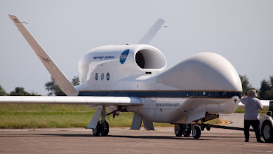Photo: The Global Hawk at NASA's Wallops Flight Facility in Virginia, arriving for the start of the Hurricane and Severe Storm Sentinel (HS3) mission.