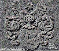 Photo: Wappen der Familie des Goldschmiedes und Kupferstechers Petersen genannt Goldschmidt aus Husum Petrus Goldschmidt war Pastor in Parchim