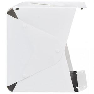 Cutie fotografie de produs, 40 x 34 x 37 cm, pliabil, LED, Alb