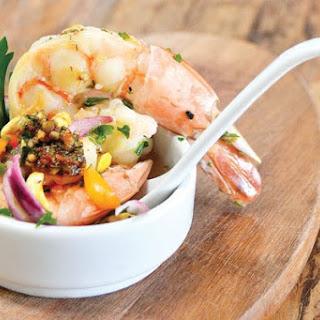 Receita de Ceviche de peixe e camarão