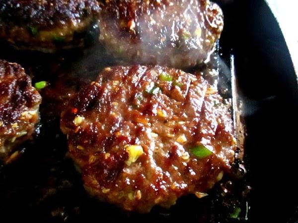 ~ Juicy Asian Burger ~ So Good! Recipe