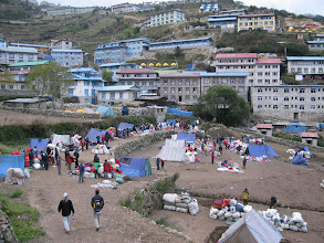 Photo: Namche Bazaar market (not the one for tourists)