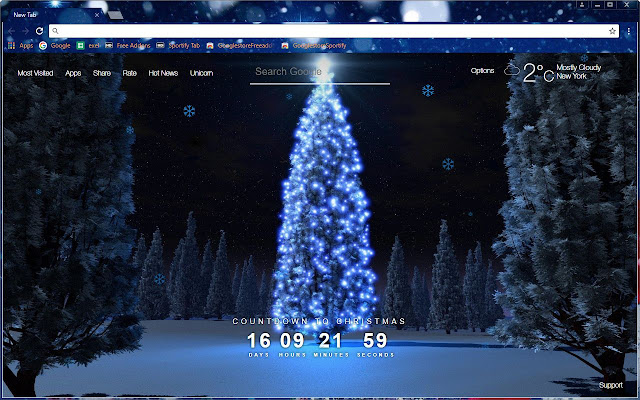 Chrome themes to combine with newtab extension hd - Winter theme chrome ...