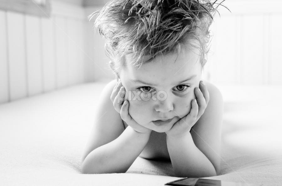 In deep thought by Tine Bergersen - Babies & Children Children Candids