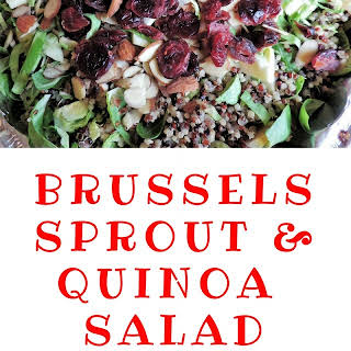 Healthy Brussels Sprout & Quinoa Salad.