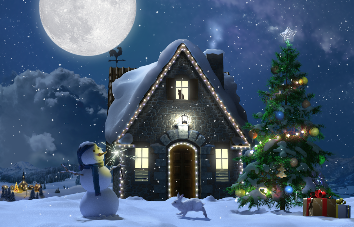 Christmas Moon Live Wallpaper- screenshot