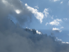 Photo: a mountain in the clouds