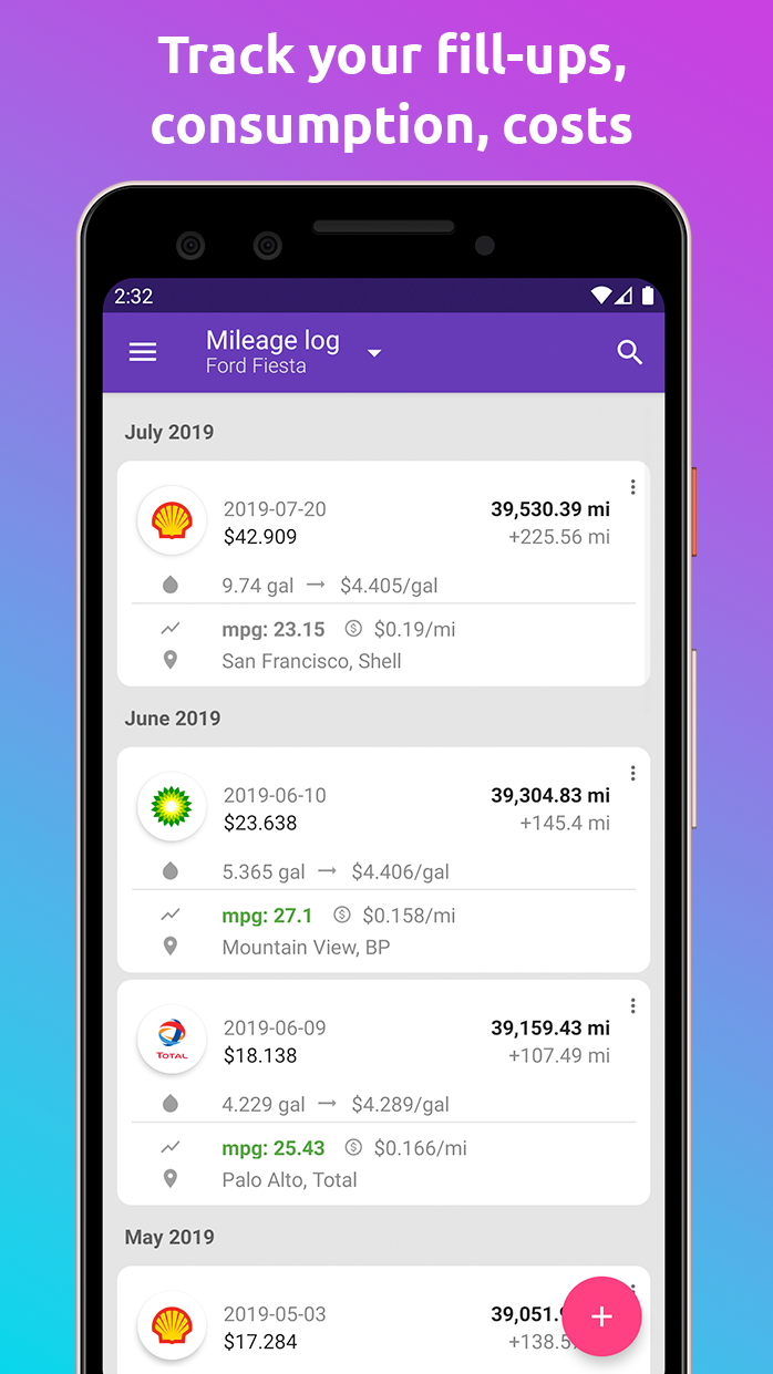 Fuelio: gas log, costs, car management, GPS routes Screenshot 5
