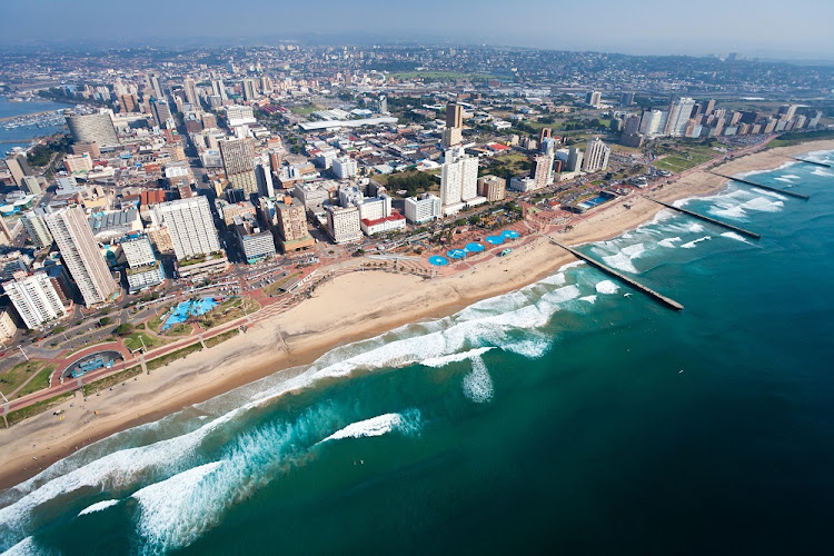An aerial view of Durban, KwaZulu-Natal, South Africa. Picture: 123RF/HONGQI ZHANG