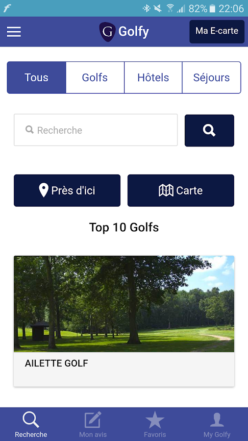 Golfy- screenshot