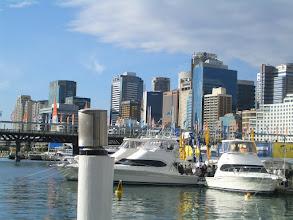 Photo: Blick vom Darling Harbour auf das CBD