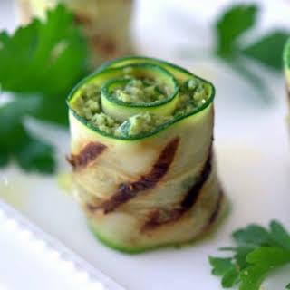 Grilled Artichoke Pesto Zucchini Bites.