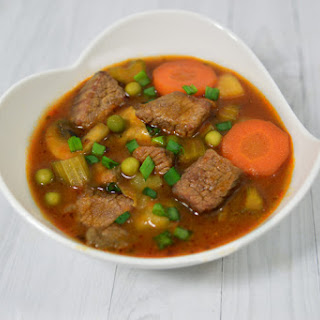 Slow Cooker Loaded Beef Stew.