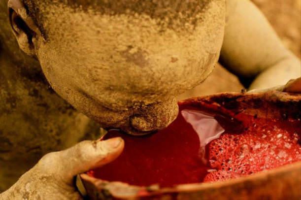 İğrenç Yiyecekler - İnek kanı
