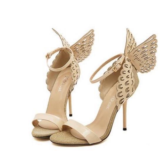Zapatillas con alas de mariposa