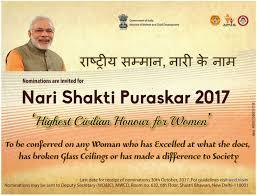 Image result for Nari Shakti Puraskar, 2018
