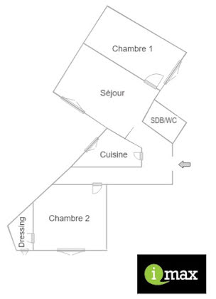 Vente appartement 3 pièces 57,16 m2