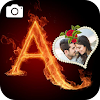 Fire Text Photo Frame Editor