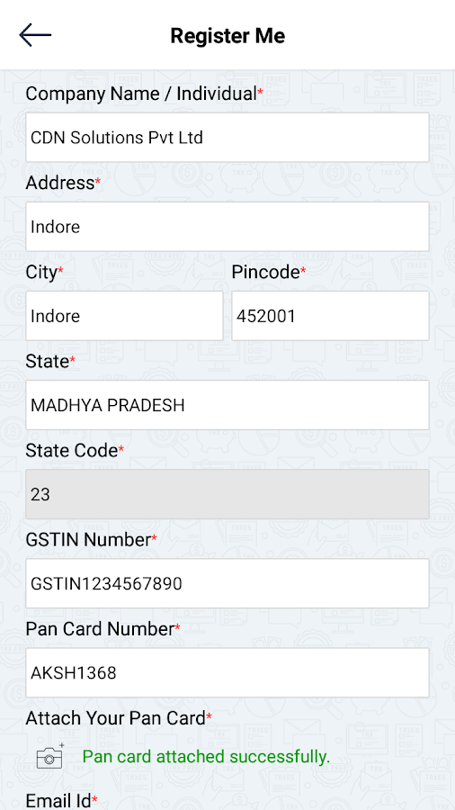 GST Invoice App- screenshot